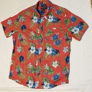 American Rag Foral red hawaiian shirt men X-large